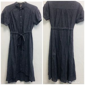 FREE PEOPLE PLAID HIGH LOW DRESS SIZE MEDIUM